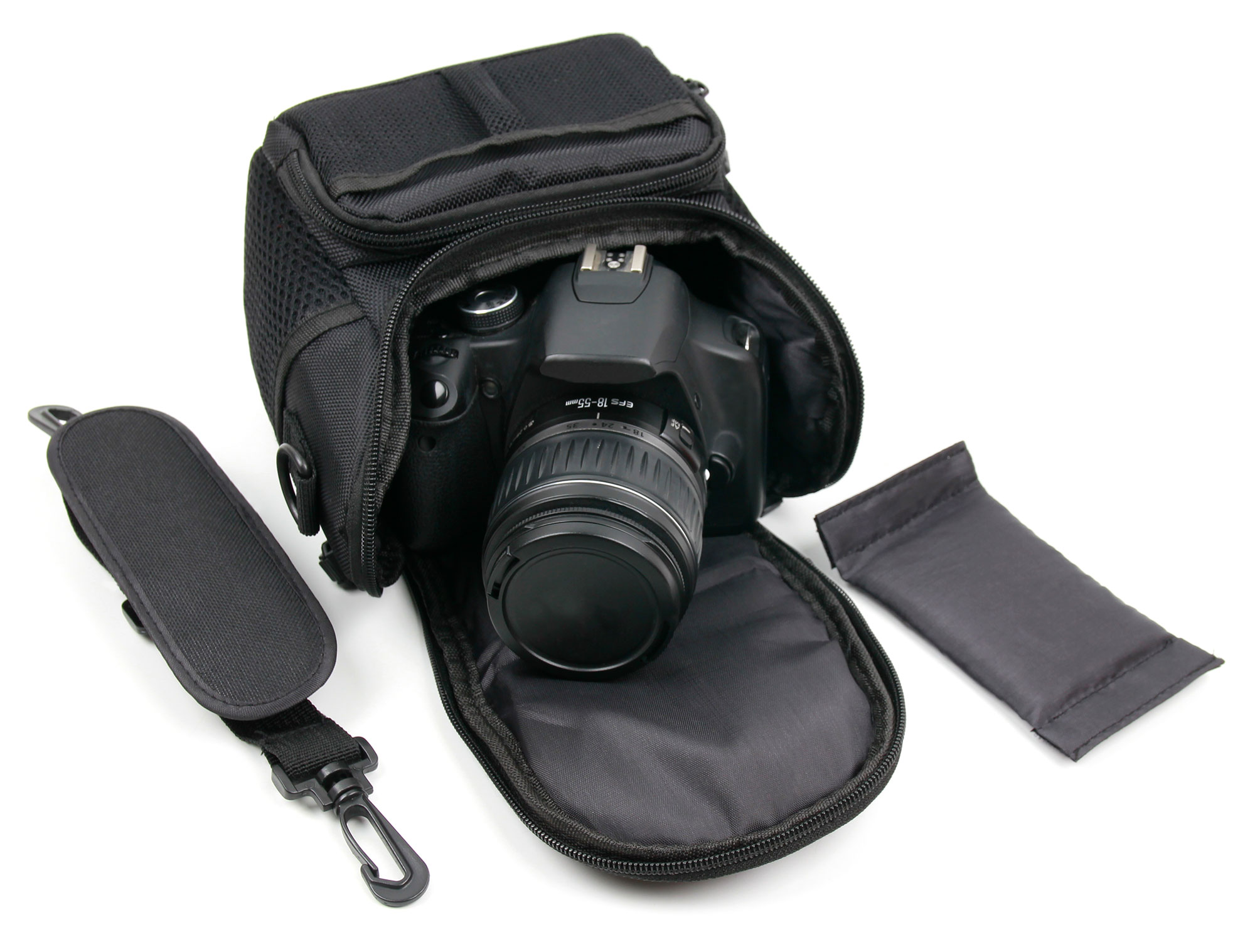 DURAGADGET Shock-Absorbing /& Water-Resistant Carry Bag in Black /& Orange Compatible with Canon EOS M100